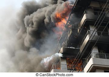 здание, огонь, большой, /, /news, fires