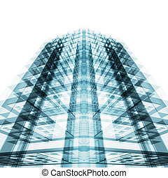 здание, оказание, абстрактные, concept., 3d