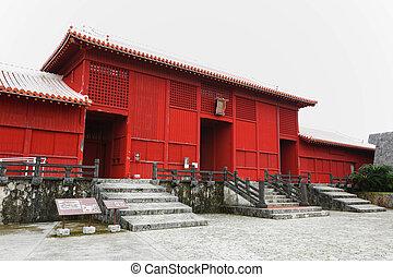 здание, окружающих, замок, shuri