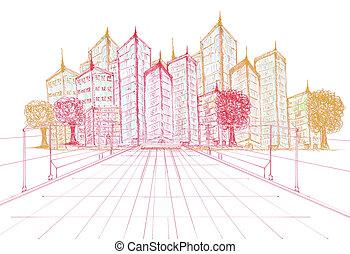 здание, проект, sketching, новый