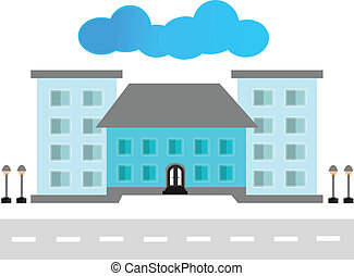 здание, современное, вектор