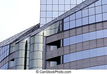 здание, современное, офис