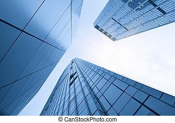 здание, стакан, современное