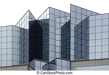 здание, стакан, угловая, офис, экстерьер