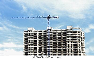 здание, строительство, многоэтажный