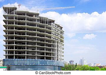 здание, строительство, под