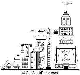 здание, строительство, сайт, под