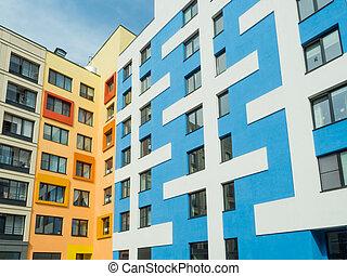 здание, фасад, стиль, современное, архитектура