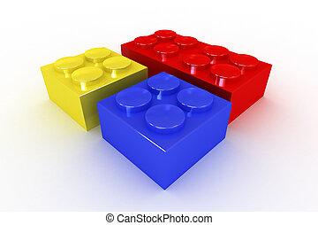 здание, яркий, blocks, коллекция, coloured