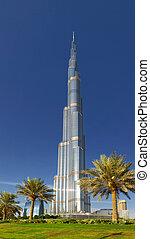 здание, 23, октября, khalifa, дубай, -, burj, в центре города, 23:, наибольший, uae, мир, 2012