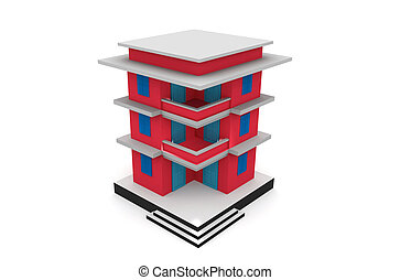 здание, model., 3d