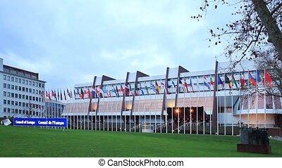 здание, of, европейская, совет