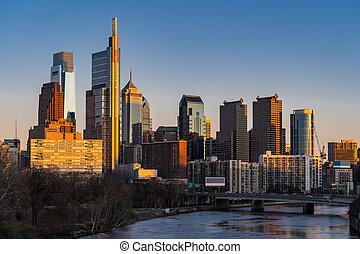 здание, skylines, филадельфия