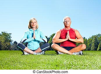 здоровый, гимнастический зал, lifestyle., фитнес