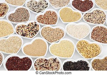 здоровый, зерно, питание