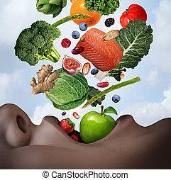 здоровый, питание, диета