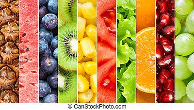 здоровый, питание, задний план