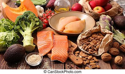 здоровый, питание, концепция
