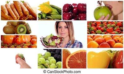 здоровый, питание, красота