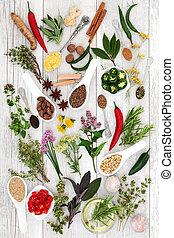 здоровый, питание, приправа