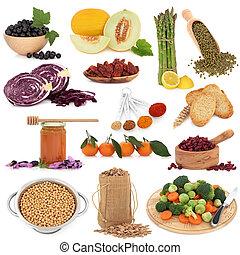 здоровый, питание, пробоотборник