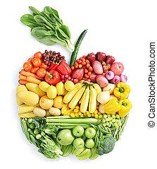здоровый, питание, apple: