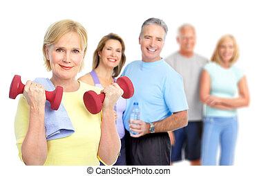 здоровый, фитнес, гимнастический зал, стиль жизни