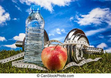 здоровье, and, фитнес, тема