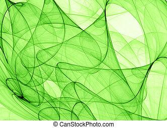 зеленый, абстрактные, задний план