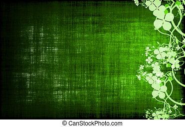 зеленый, вино, или, питание, меню, шаблон