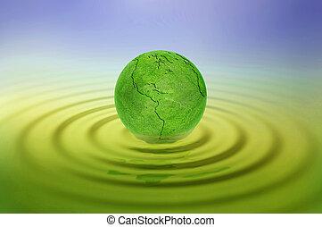 зеленый, земля