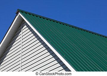 зеленый, крыша