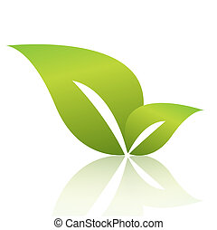 зеленый, лист