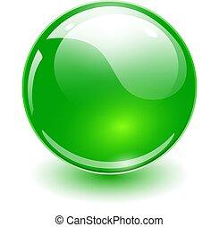 зеленый, стакан, сфера