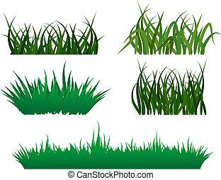 зеленый, трава, patterns