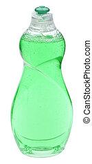 зеленый, уборка, бутылка