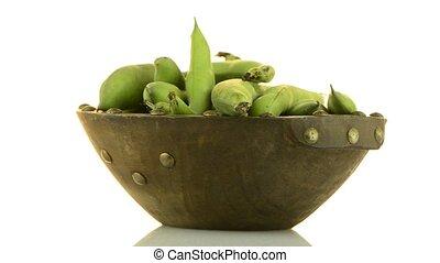 зеленый, фасоль