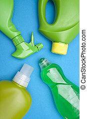 зеленый, чистый