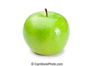 зеленый, яблоко