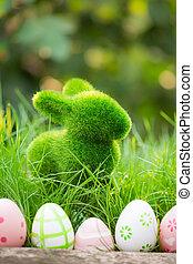 зеленый, eggs, трава, пасха