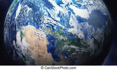 земля, зум, пространство