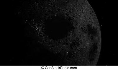 земля, луна, зум, пространство