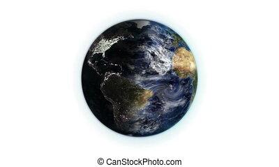 земля, перемещение, облако, движение