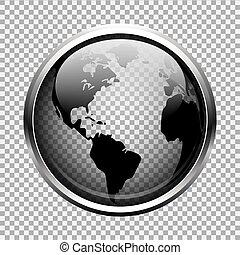 земной шар, прозрачный