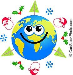 земной шар, рождество