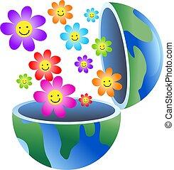 земной шар, цветок