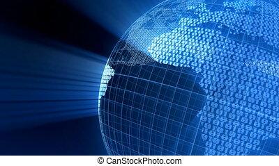 земной шар, цифровой
