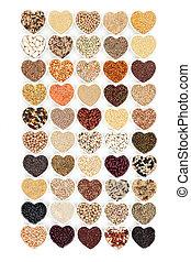 зерно, питание, and, овощной, pulses, пробоотборник