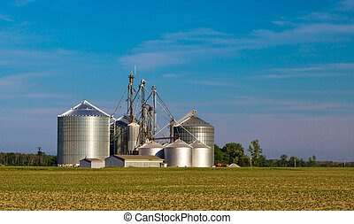 зерно, silos