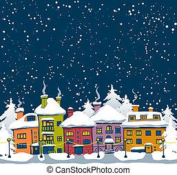 зима, город
